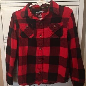 Arizona boys long sleeve plaid shirt size 5T